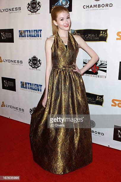 Actress Katherine McNamara attends Hellman Walter's Salute To The Stars Oscar After Party Event Benefiting St Jude Children's Research Hospital at...