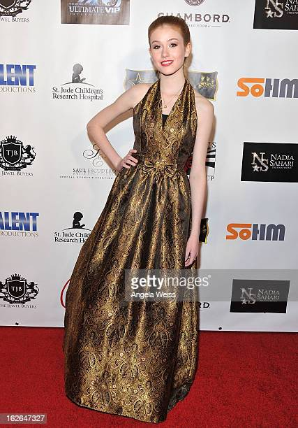 Actress Katherine McNamara attends Hellman Walter's Salute To The Stars Oscar after party at Andaz on February 24 2013 in West Hollywood California