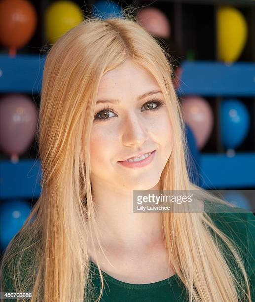 Actress Katherine McNamara attends Mattel's 5th Annual Party On The Pier Hosted By Sarah Michelle Gellar at Santa Monica Pier on October 5 2014 in...