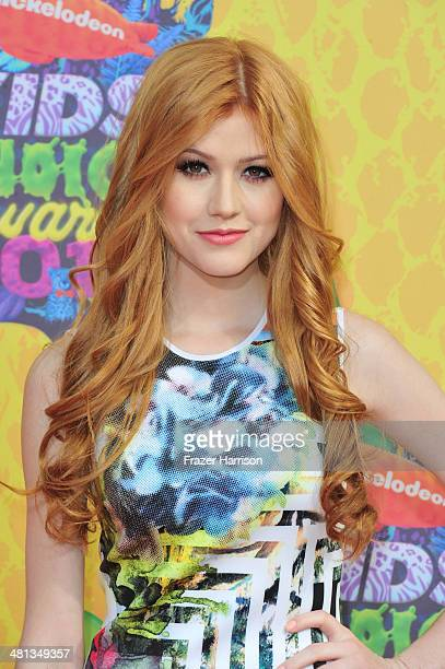 Actress Katherine McNamara attends Nickelodeon's 27th Annual Kids' Choice Awards held at USC Galen Center on March 29 2014 in Los Angeles California