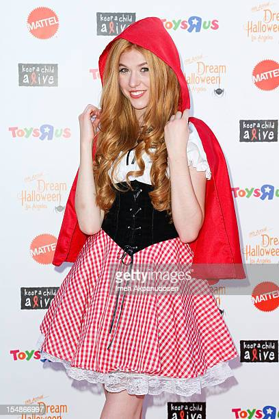 Actress Katherine McNamara attends the 2012 'Dream Halloween' presented by Keep A Child Alive at Barker Hangar on October 27 2012 in Santa Monica...