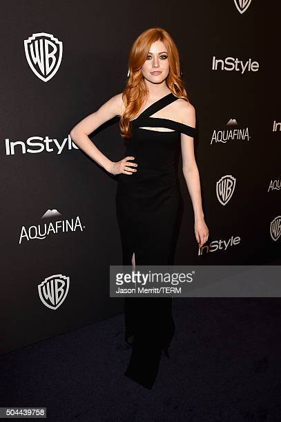 Actress Katherine McNamara attends The 2016 InStyle And Warner Bros 73rd Annual Golden Globe Awards PostParty at The Beverly Hilton Hotel on January...