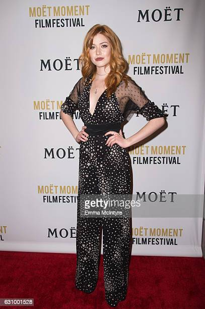 Actress Katherine McNamara attends the 2nd Annual Moet Moment Film Festival and Kick Off of Golden Globes Week at Doheny Room on January 4 2017 in...