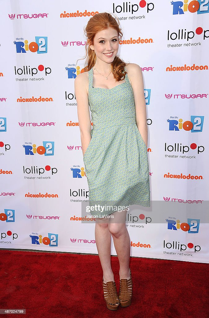 Actress Katherine McNamara attends the Lollipop Theater Network's A Night Under The Stars at Nickelodeon Animation Studio on April 26, 2014 in Burbank, California.