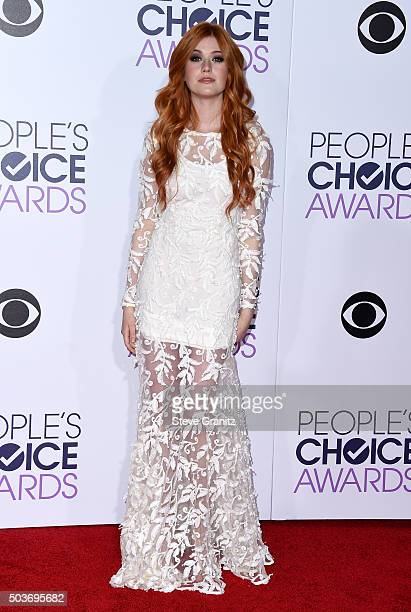 Actress Katherine McNamara attends the People's Choice Awards 2016 at Microsoft Theater on January 6 2016 in Los Angeles California
