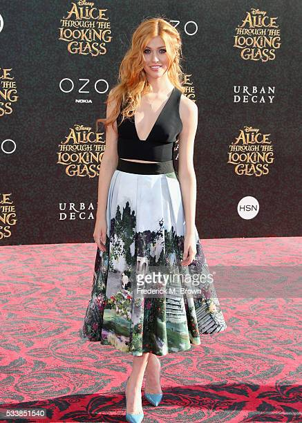 Actress Katherine McNamara attends the premiere of Disney's Alice Through The Looking Glass at the El Capitan Theatre on May 23 2016 in Hollywood...