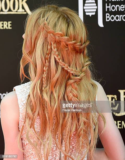 Actress Katherine McNamara attends the premiere of Disney's 'The Jungle Book' at the El Capitan Theatre on April 4 2016 in Hollywood California