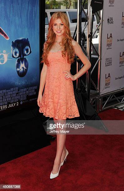 Actress Katherine McNamara attends the premiere of 'Earth to Echo' during the 2014 Los Angeles Film Festival at Regal Cinemas LA Live on June 14 2014...