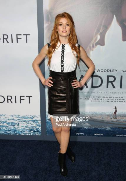 Actress Katherine McNamara attends the premiere of STX Films' Adrift at Regal LA Live Stadium 14 on May 23 2018 in Los Angeles California
