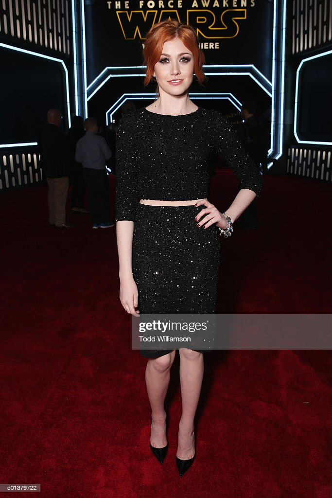 Actress Katherine McNamara attends the Premiere of Walt Disney Pictures and Lucasfilm's 'Star Wars: The Force Awakens' on December 14, 2015 in Hollywood, California.