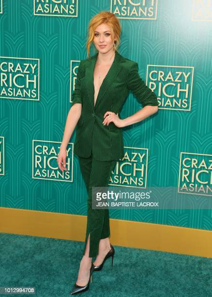 Actress Katherine McNamara attends the premiere of Warner Bros Pictures' 'Crazy Rich Asians' in Hollywood California on August 7 2018