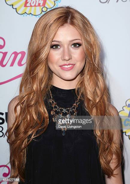 Actress Katherine McNamara attends the Teen Choice 2014 Awards Official PreParty hosted by DigiTour at Gibson Guitar Entertainment Relations Showroom...