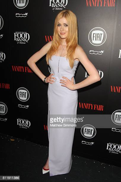 Actress Katherine McNamara attends Vanity Fair and FIAT Young Hollywood Celebration at Chateau Marmont on February 23 2016 in Los Angeles California