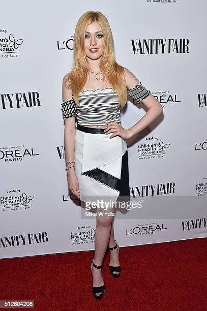 Actress Katherine McNamara attends Vanity Fair L'Oreal Paris Hailee Steinfeld host DJ Night at Palihouse Holloway on February 26 2016 in West...