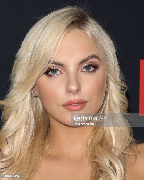 Actress Katherine Neff attends the Premiere Of Netflix's The Dirt at ArcLight Hollywood on March 18 2019 in Hollywood California