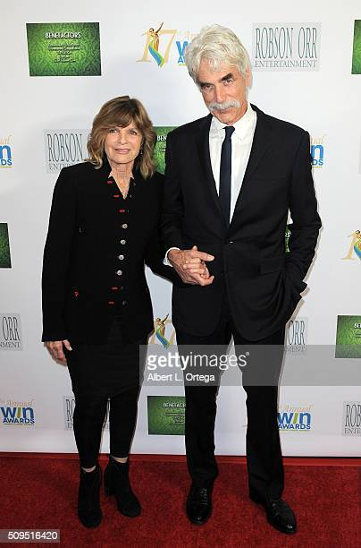 Actress Katherine Ross and actor Sam Elliot arrive for the 17th Annual Women's Image Awards held at Royce Hall, UCLA on February 10, 2016 in...