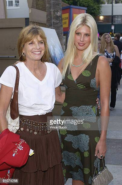 Actress Katherine Ross and daughter attend the Los Angeles premiere of Donnie Darko The Director's Cut on July 15 2004 at the Egyptian Theatre in...