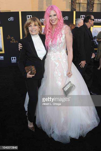 Actress Katherine Ross and daughter Rose Elliott arrive for the Premiere Of Warner Bros Pictures' A Star Is Born held at The Shrine Auditorium on...