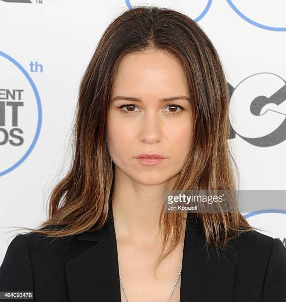 Actress Katherine Waterston arrives at the 2015 Film Independent Spirit Awards on February 21 2015 in Santa Monica California