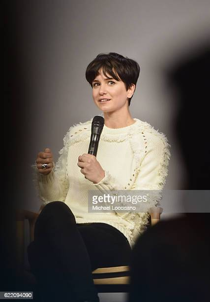 Actress Katherine Waterston attends the Apple Store Soho presentation of Meet the Cast 'Fantastic Beasts And Where To Find Them' at Apple Store Soho...