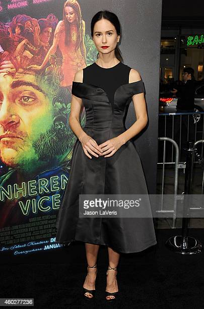 Actress Katherine Waterston attends the premiere of 'Inherent Vice' at TCL Chinese Theatre on December 10 2014 in Hollywood California