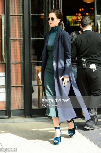 Actress Katherine Waterston leaves her Noho hotel on May 09 2017 in New York City