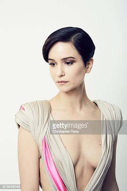 Actress Katherine Waterston poses for a portrait at the 2016 American Cinematheque Awards on October 14 2016 in Beverly Hills California