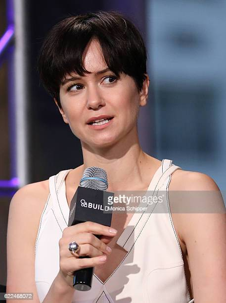 Actress Katherine Waterston speaks at The Build Series Presents Fantastic Beasts And Where to Find Them at AOL HQ on November 11 2016 in New York City