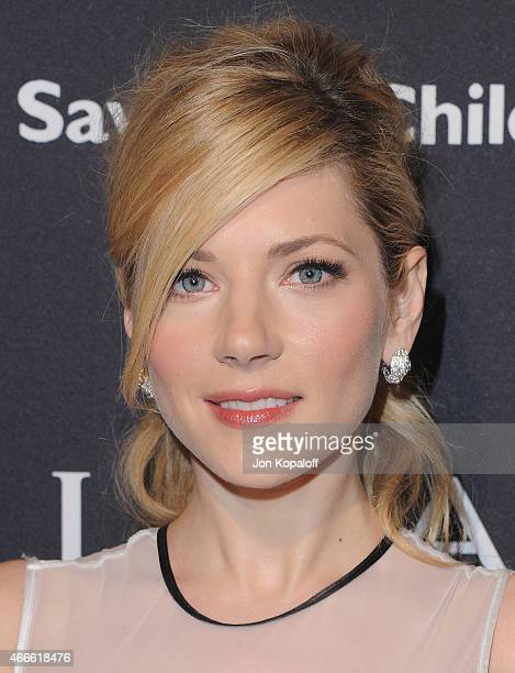 Actress Katheryn Winnick arrives at BVLGARI And Save The Children STOP THINK GIVE PreOscar Event at Spago on February 17 2015 in Beverly Hills...