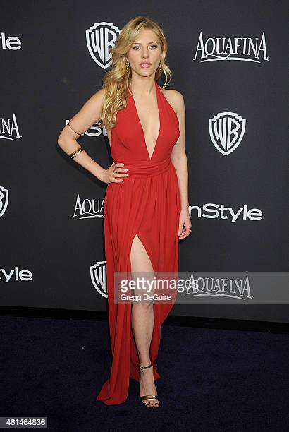 Actress Katheryn Winnick arrives at the 16th Annual Warner Bros And InStyle PostGolden Globe Party at The Beverly Hilton Hotel on January 11 2015 in...