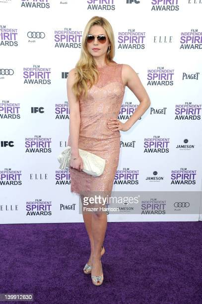 Actress Katheryn Winnick arrives at the 2012 Film Independent Spirit Awards on February 25 2012 in Santa Monica California