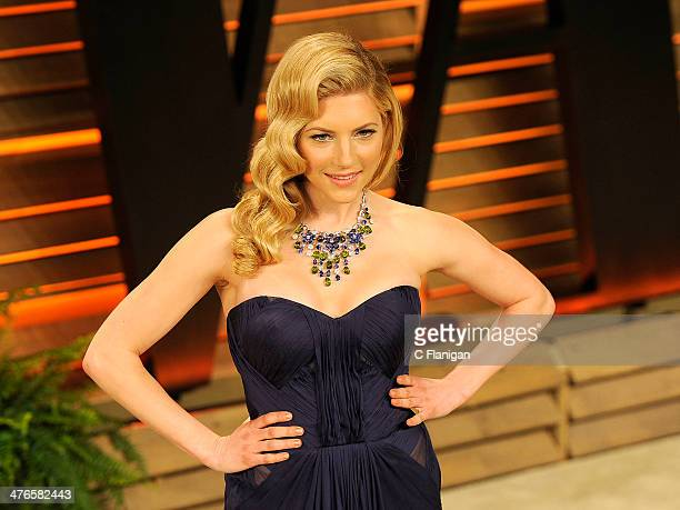 Actress Katheryn Winnick arrives at the 2014 Vanity Fair Oscar Party Hosted By Graydon Carter on March 2 2014 in West Hollywood California