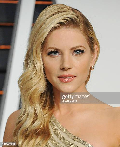 Actress Katheryn Winnick arrives at the 2015 Vanity Fair Oscar Party Hosted By Graydon Carter at Wallis Annenberg Center for the Performing Arts on...