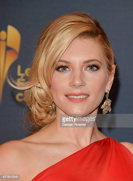 Actress Katheryn Winnick arrives at the Canadian Screen Awards at Sony Centre for the Performing Arts on March 9 2014 in Toronto Canada