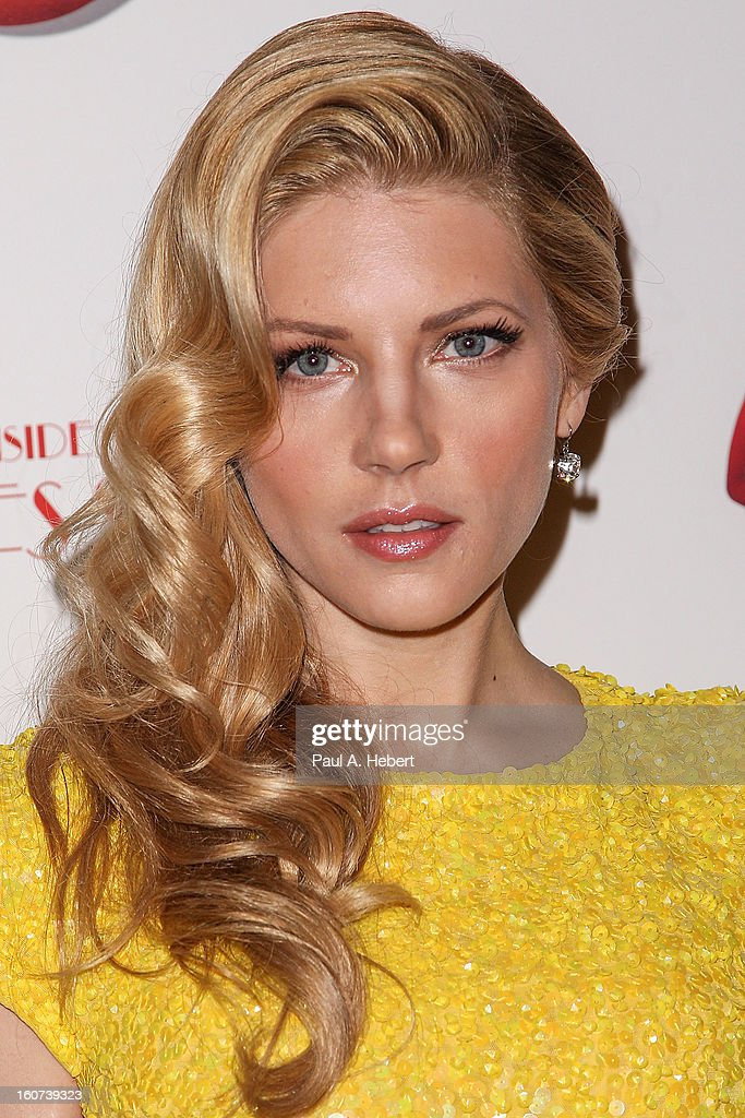 Actress Katheryn Winnick arrives at the premiere of A24's 'A Glimpse Inside The Mind of Charles Swan III' held at the ArcLight Hollywood on February 4, 2013 in Hollywood, California.
