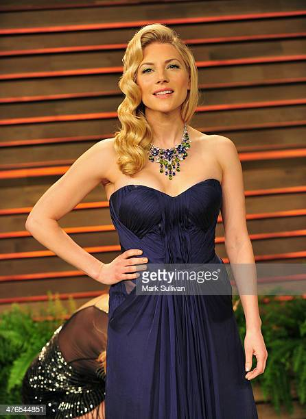 Actress Katheryn Winnick arrives for the 2014 Vanity Fair Oscar Party hosted by Graydon Carter on March 2 2014 in West Hollywood California