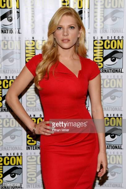 Actress Katheryn Winnick attends a media room for the History series 'Vikings' during ComicCon International 2013 at the Hilton San Diego Bayfront...
