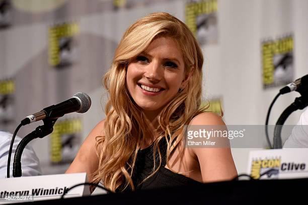 Actress Katheryn Winnick attends a panel for the History series 'Vikings' during ComicCon International 2015 at the San Diego Convention Center on...