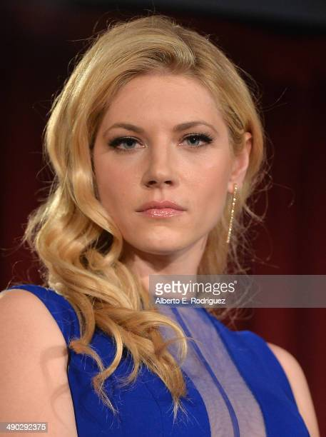 Actress Katheryn Winnick attends History Channel's Vikings Panel Discussion and Reception at Leonard H Goldenson Theatre on May 13 2014 in North...