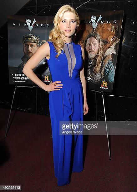 Actress Katheryn Winnick attends History's 'Vikings' ATAS panel at Leonard Goldenson Theatre on May 13 2014 in Hollywood California