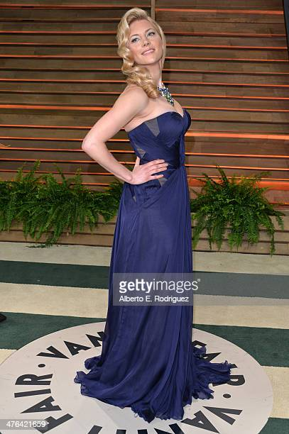 Actress Katheryn Winnick attends the 2014 Vanity Fair Oscar Party hosted by Graydon Carter on March 2 2014 in West Hollywood California