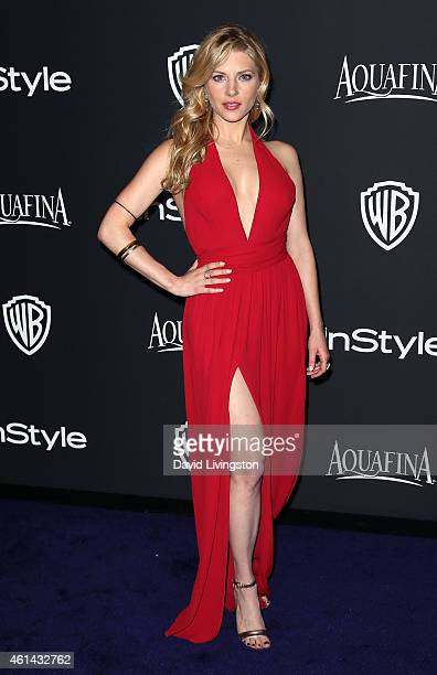 Actress Katheryn Winnick attends the 2015 InStyle and Warner Bros 72nd Annual Golden Globe Awards PostParty at The Beverly Hilton Hotel on January 11...