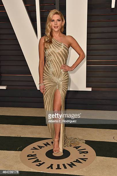 Actress Katheryn Winnick attends the 2015 Vanity Fair Oscar Party hosted by Graydon Carter at Wallis Annenberg Center for the Performing Arts on...
