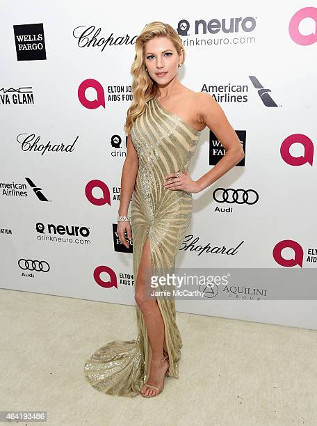 Actress Katheryn Winnick attends the 23rd Annual Elton John AIDS Foundation Academy Awards Viewing Party on February 22 2015 in Los Angeles California