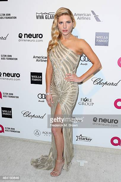 Actress Katheryn Winnick attends the 23rd Annual Elton John AIDS Foundation's Oscar Viewing Party on February 22 2015 in West Hollywood California