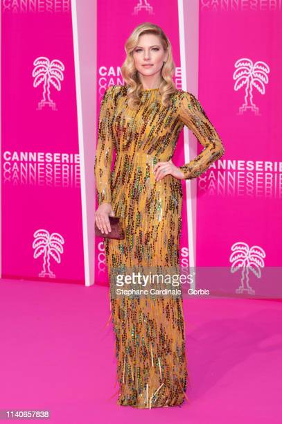Actress Katheryn Winnick attends the 2nd Canneseries International Series Festival Opening Ceremony on April 05 2019 in Cannes France