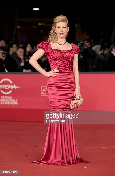 Actress Katheryn Winnick attends the Closing Ceremony Red Carpet during the 7th Rome Film Festival at the Auditorium Parco Della Musica on November...