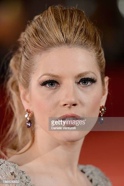 Actress Katheryn Winnick attends the 'The Motel Life' Premiere during the 7th Rome Film Festival at Auditorium Parco Della Musica on November 16,...