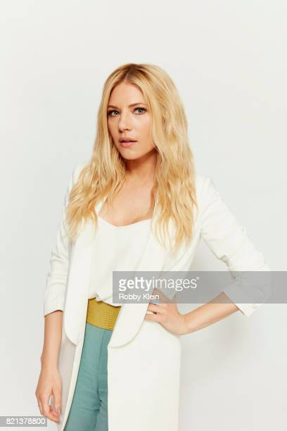 Actress Katheryn Winnick from History's 'Vikings' poses for a portrait during ComicCon 2017 at Hard Rock Hotel San Diego on July 21 2017 in San Diego...