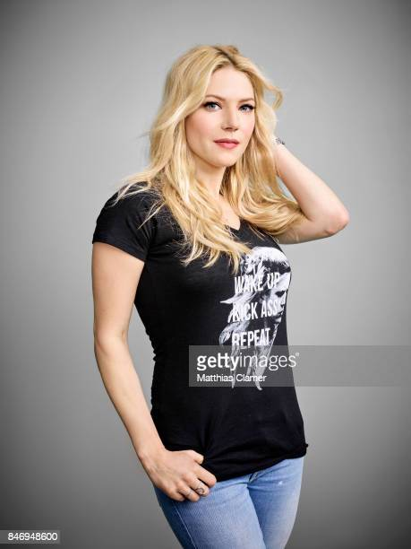 Actress Katheryn Winnick from 'Vikings' is photographed for Entertainment Weekly Magazine on July 22 2016 at Comic Con in the Hard Rock Hotel in San...